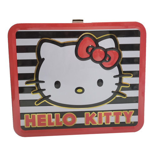 Hello Kitty Stripes Tin Lunchbox