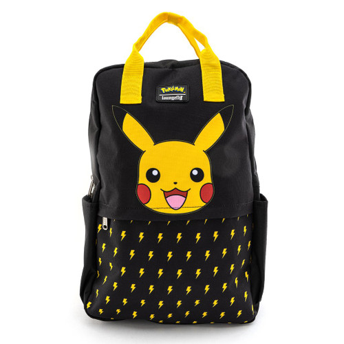POKEMON LIGHTNING BOLT PIKACHU NYLON SQUARE BACKPACK