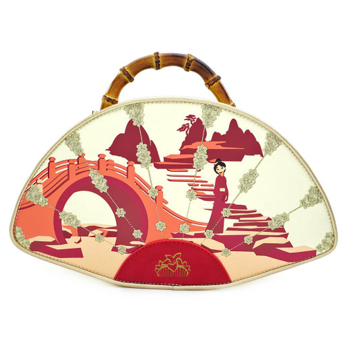 DISNEY MULAN BAMBOO HANDLE FAN HANDBAG