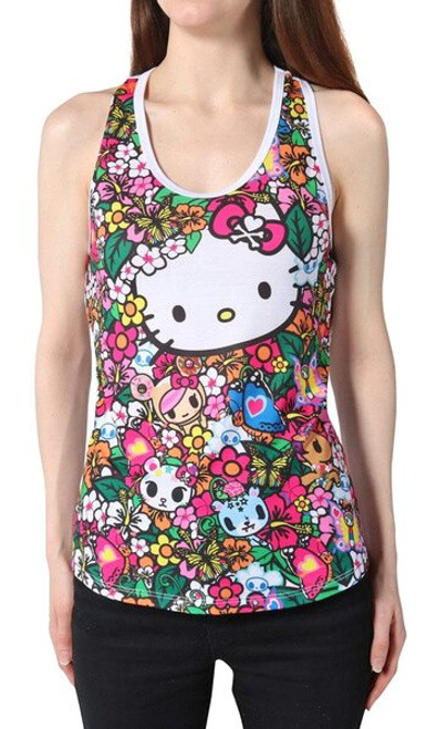 Tokidoki x Hello Kitty Floral Friends Women's Racerback Tank Top