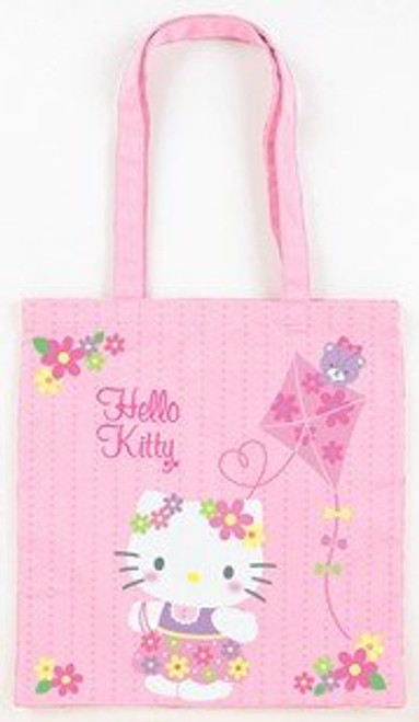 Hello Kitty with a Kite Pink Cotton Tote