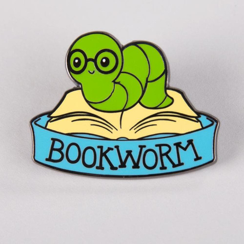Teeturtle Bookworm Enamel Pin