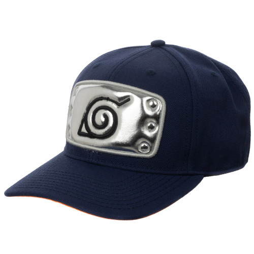 Naruto: Hidden Leaf village Headband Pre-Curved Bill Snapback