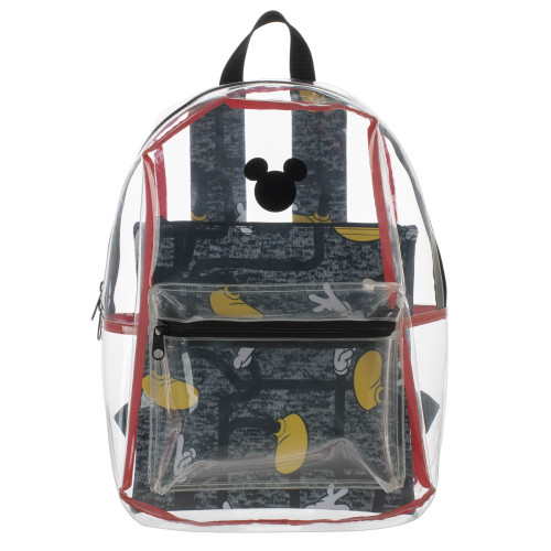 Disney: Mickey Mouse Clear with Removable Pouch Backpack