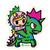 Tokidoki Little Terror and Kaiju 5 in Sticker