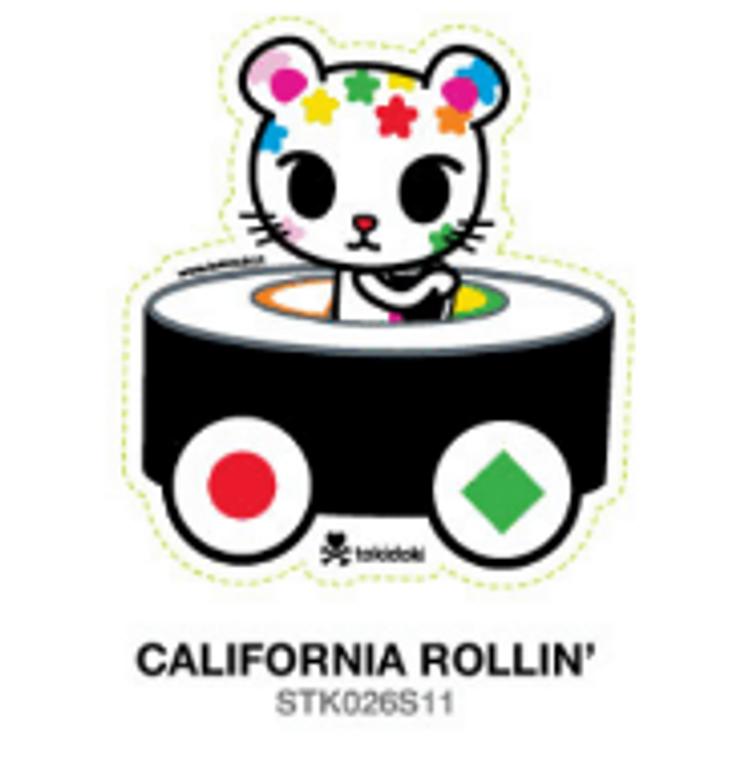 Tokidoki California Rollin' sushi car 4 in Sticker