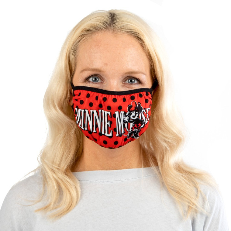 Disney Adult Face Cover Adjustable Red Minnie Mouse