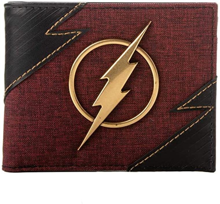 The Flash: Metal Badge Bi-fold Wallet