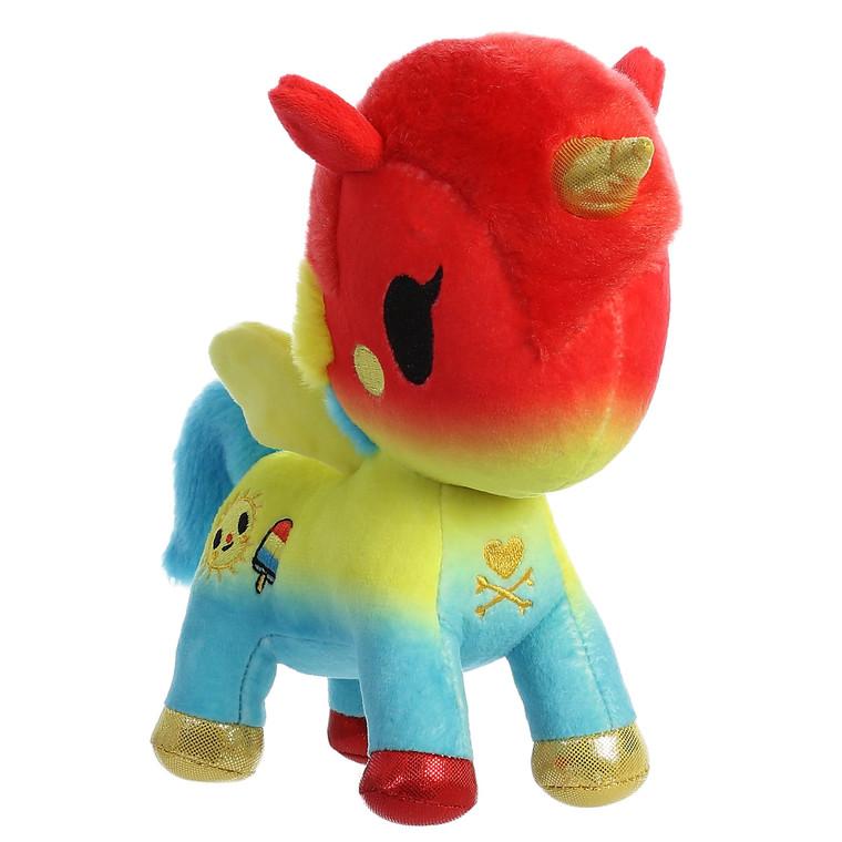 """Tokidoki Summer Unicorno 7.5"""" Plush"""