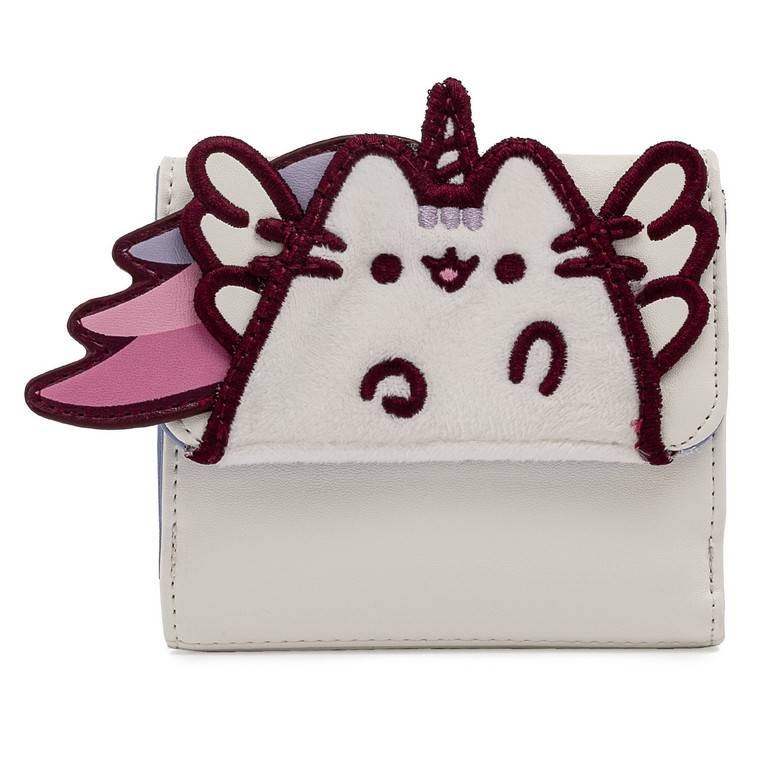 Loungefly Pusheen Unicorn Plush Flap Zip  Wallet