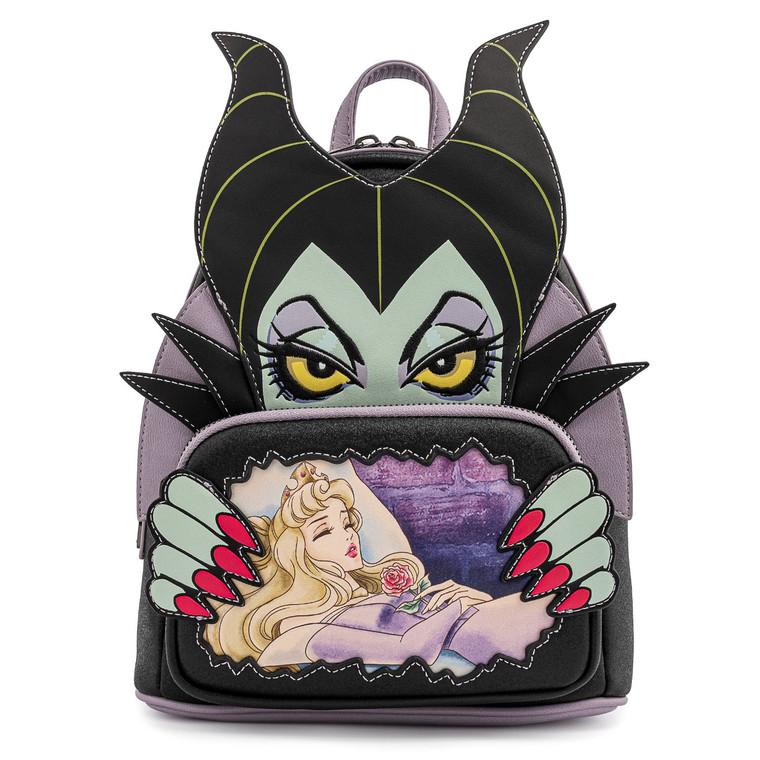 Loungefly Disney villains Scene Malificent Sleeping Beauty Mini Backpack