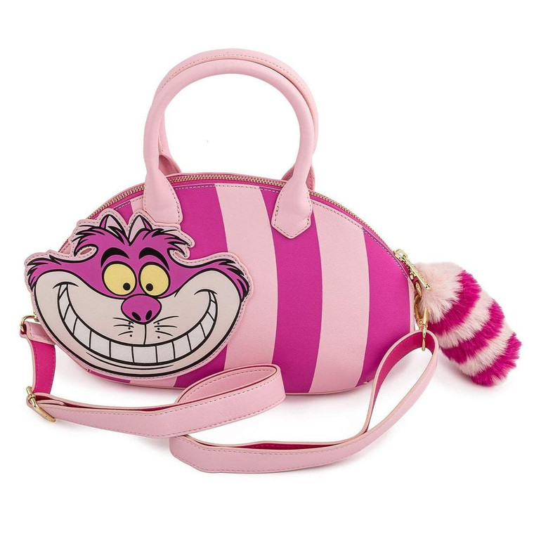 Loungelfy Disney Alice in Wonderland CHESHIRE CAT APPLIQUE CROSSBODY
