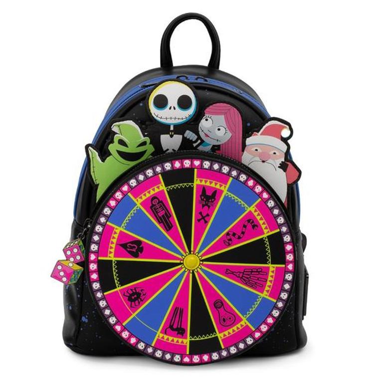 Loungefly Disney NBC Oogie Boogie wheel mini backpack