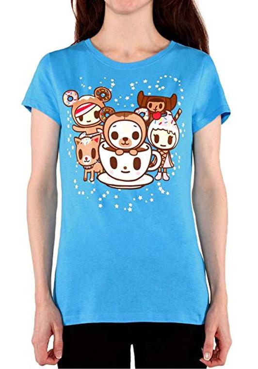 Tokidoki Donut Bear Women's Blue T-Shirt - Medium