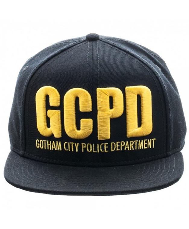 Gotham Batman GCPD Embroidered Logo Flat Brim Baseball Cap Snapback Hat
