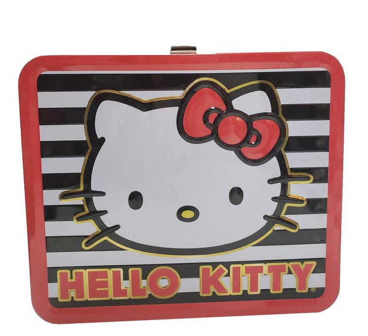 Hello Kitty Stripes Tin Lunchbox