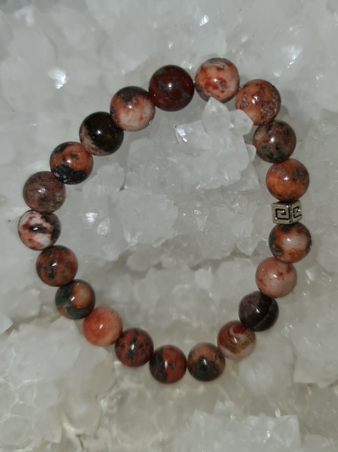 Bracelet 8mm - Agate Fire