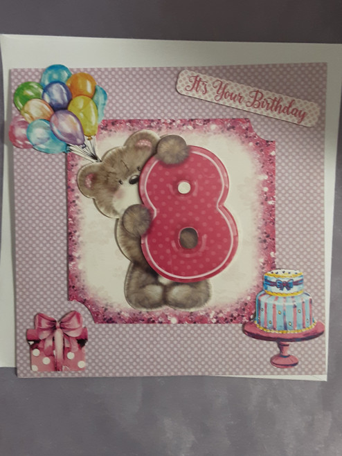 8th Birthday Cards