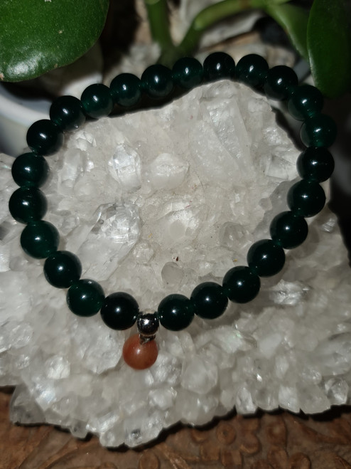 Bracelet 8mm - Jade Emerald Green