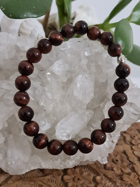 Bracelet 8mm - Tigers Eye Red