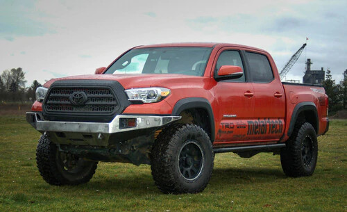 OPOR 2016+ Tacoma Flat Top Winch Mount Bumper Stage 2