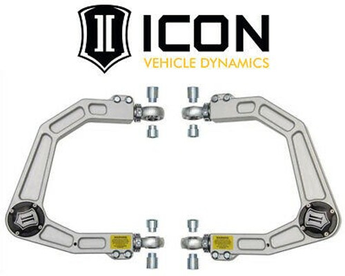 ICON 2007-UP Toyota Tundra Delta Joint Billet Aluminum Upper Control Arm Kit