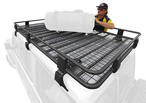 ARB 200 Series Land Cruiser Steel Roof Rack Basket With Mesh Floor 72 x 44 Inch