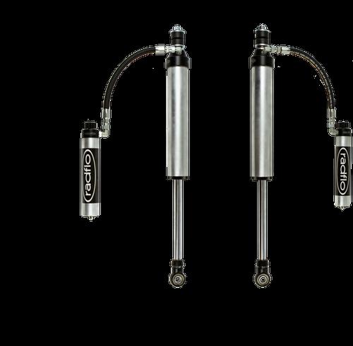 "Radflo 2003+ Lexus GX470/GX460 2.5"" Remote Reservoir Rear Shock w/ Compression Adjuster for Metal Tech Long Travel"