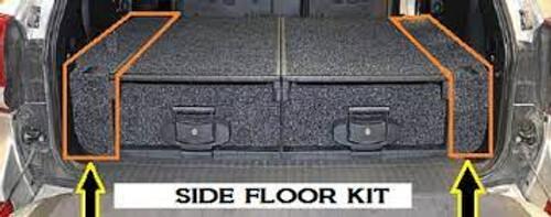ARB Toyota Prado 120/Lexus GX470 Roller Drawer Side Floor Kit w/ Rear Air