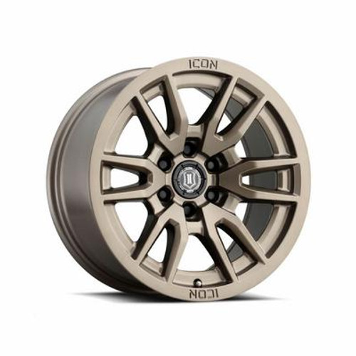 "ICON 'Vector 6' 17"" Wheel Bronze Finish"