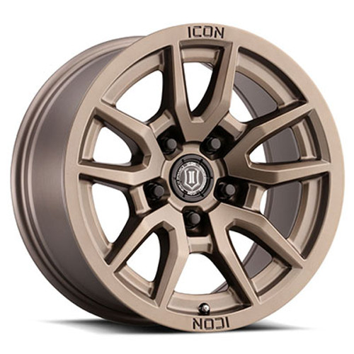 "ICON 'Vector 5 17"" Wheel Bronze Finish"