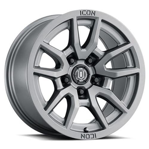 """ICON 'Vector 5 17"""" Wheel Titanium  Finish"""
