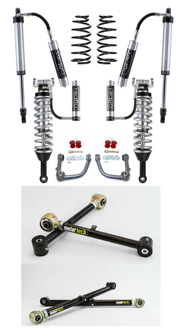 Radflo GX470/GX460 Stage 7 Kit (2.5 inch Remote Reservoirs and Compression Adjusters)