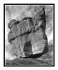 Balanced Rock in Garden of the Gods in Colorado Springs, Colorado 266 B&W