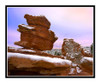 Balanced Rock with Snow in Garden of the Gods in Colorado Springs, Colorado 2377