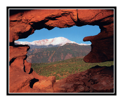 Pikes Peak through the Siamese Twins at Garden of the Gods in Colorado Springs, Colorado 46