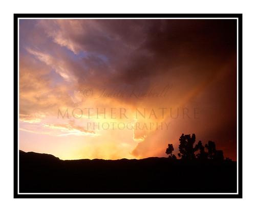 Hayman Fire Smokey Sunset over Garden of the Gods in Colorado Springs, Colorado 320