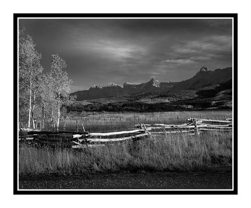 San Juan Mountain with Fence in Autumn, Colorado 73