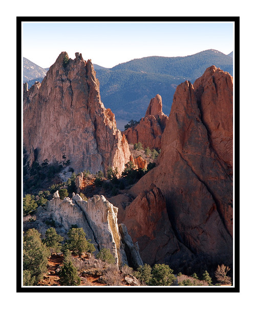 Garden of the Gods' Rocks in Summer in Colorado Springs, Colorado 245