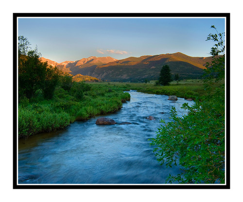Mt. Moraine over the Big Thompson River in Rocky Mountain National Park, Colorado 1582