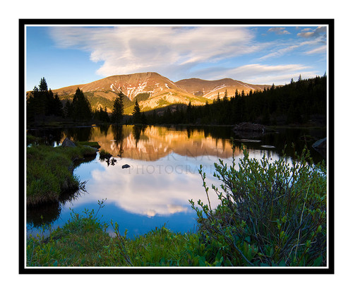 Mt. Bald over a Beaver Pond in Breckenridge, Colorado 1378
