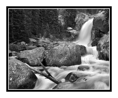 Alberta Falls in Summer in Rocky Mountain National Park, Colorado 1604