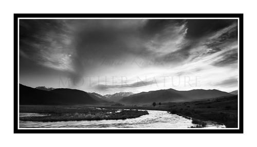 Mt. Moraine Park in Rocky Mountain National Park, Colorado 2190 B&W