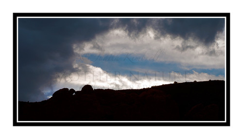 Clouds Surrounding the Kissing Camels in Garden of the Gods, Colorado 2425