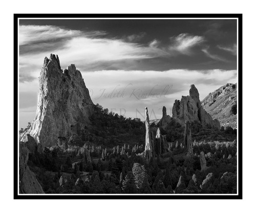 West Face of Garden of the Gods at Sunrise in Colorado Springs, Colorado 2027 B&W