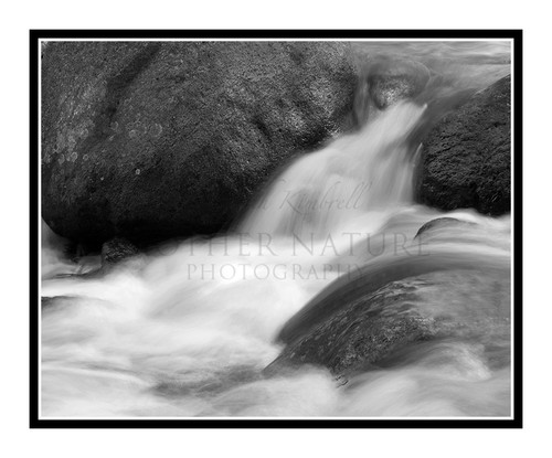 Chicago Creek Waterfall at Mt. Evans, Colorado 1516 B&W