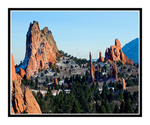 West Face of Garden of the Gods South Side in Colorado Springs, Colorado 1489