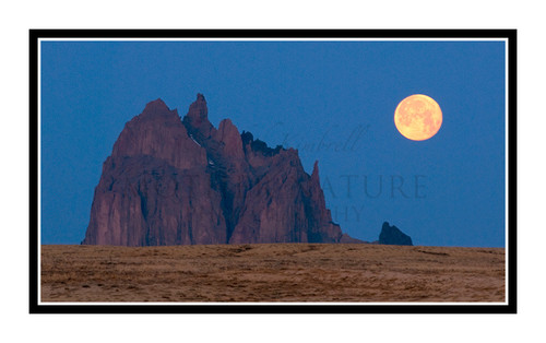 A Full Moon over Shiprock, New Mexico 1166