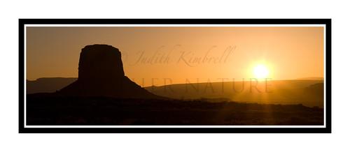 Sunset in Monument Valley National Park, Utah 1225