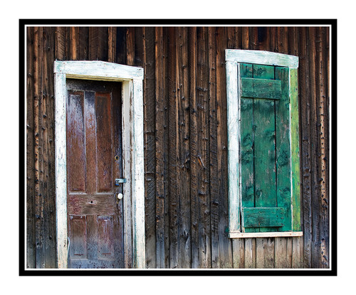 Door & Window on a Distressed Barn in Breckenridge, Colorado 1339